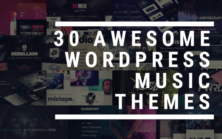 30 awesome premium WordPress music themes