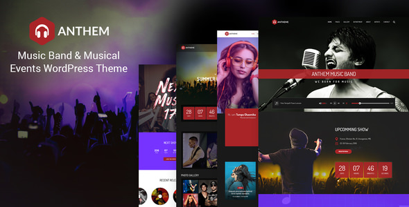 Anthem - Music Band and Musical Events WordPress Theme