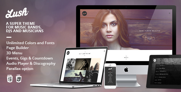 Lush - Music Band and Musician WordPress Theme
