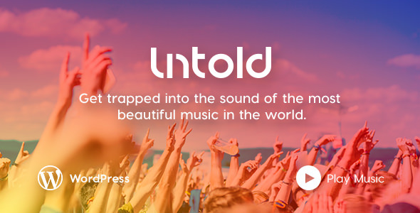 Untold - WordPress Theme for Bands and Musicians