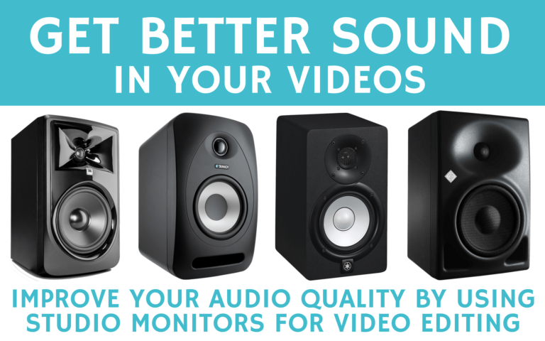 Get better sound in your videos with studio monitors