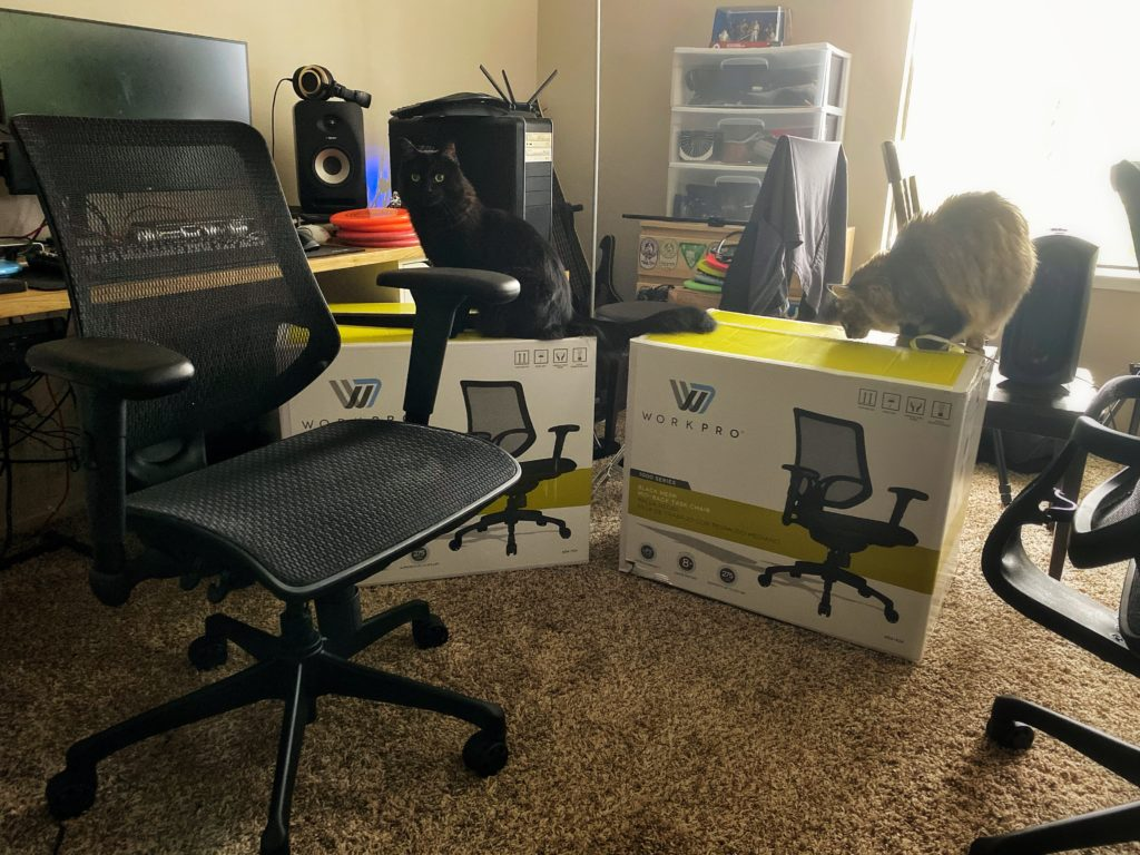 Workpro 1000 Series home office chairs: cats-approved